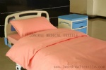 pink color cotton hospital bed linen