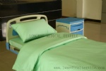 green color cotton hospital bed sheet