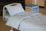K-9 light blue 2cm satin stripe CVC hospital bed linen