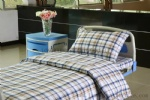 L-6 Polyester cotton checked hospital bed linen