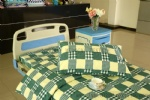 E-13 pure cotton yellow green check hospital bed sheet set