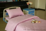 E-10 pure cotton pink windmill hospital bed linen set